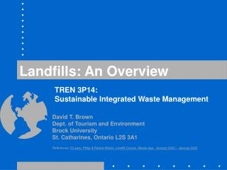 Landfills: An Overview