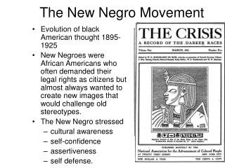 The New Negro Movement