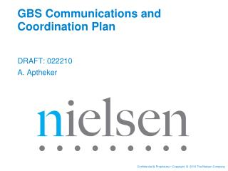 GBS Communications and Coordination Plan