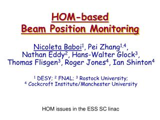 HOM-based  Beam Position Monitoring