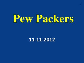 Pew Packers