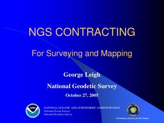 NGS CONTRACTING For Surveying and Mapping
