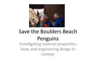 Save the Boulders Beach Penguins