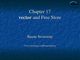 Chapter 17 vector and Free Store