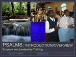 PSALMS: INTRODUCTION