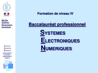 I NSPECTION E DUCATION  N ATIONALE  ENSEIGNEMENT TECHNIQUE  - ENSEIGNEMENT GENERAL