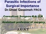 Parasitic Infections of Surgical Importance