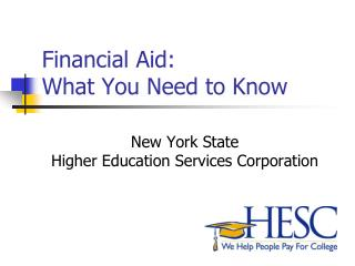 Financial Aid:  What You Need to Know