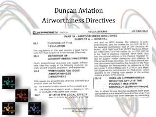 Duncan Aviation  Airworthiness Directives