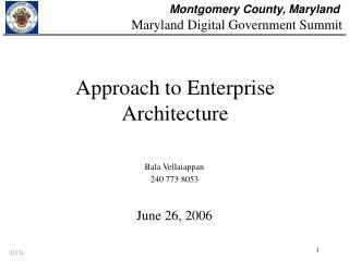 Approach to Enterprise Architecture