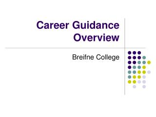 Career Guidance Overview