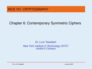 Chapter 6: Contemporary Symmetric Ciphers