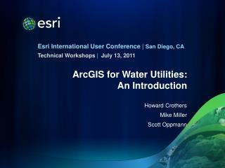 ArcGIS for Water Utilities: An Introduction