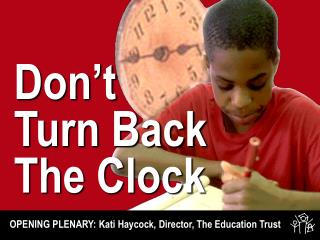 Don't Turn Back The Clock