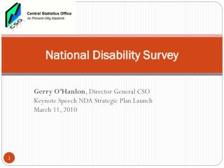 National Disability Survey