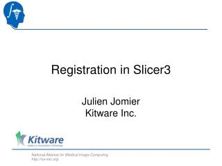 Registration in Slicer3