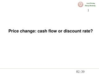 Price change: cash flow or discount rate?