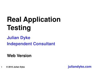 Real Application Testing