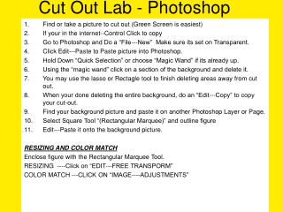 Cut Out Lab - Photoshop