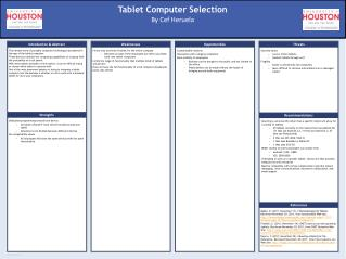 Tablet Computer Selection