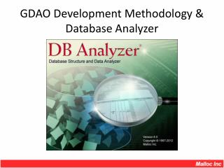 GDAO Development Methodology & Database Analyzer