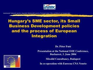 Asistenţă Tehnică pentru Agenţia Naţională pentru Întreprinderi Mici şi Mijlocii şi Cooperaţie