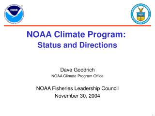 NOAA Climate Program: Status and Directions