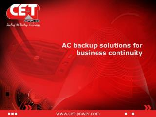 AC backup solutions for business continuity