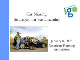Car Sharing:  Strategies for Sustainability
