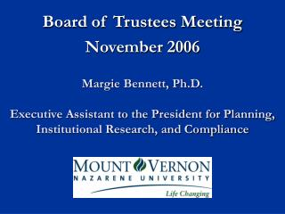 Board of Trustees Meeting November 2006