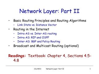 Network Layer: Part II