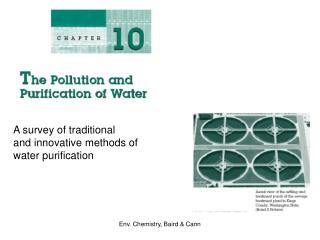 A survey of traditional and innovative methods of  water purification