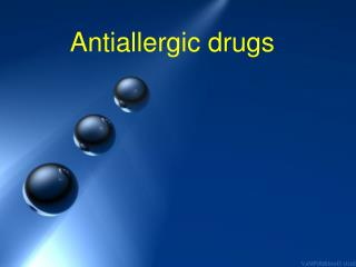 Antiallergic drugs