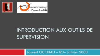 Introduction aux  outils  de supervision
