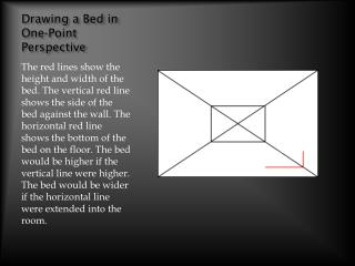 Drawing a Bed in One-Point Perspective