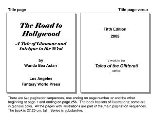 The Road to Hollywood