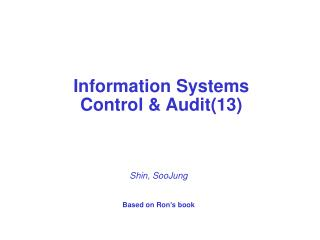 Information Systems  Control & Audit(13)