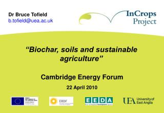 """Biochar, soils and sustainable agriculture"""