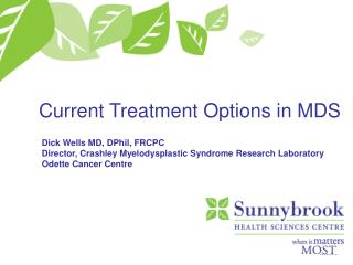 Current Treatment Options in MDS