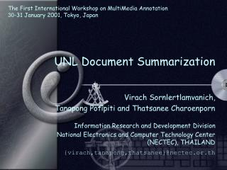 UNL Document Summarization