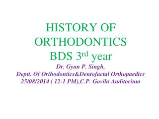 ORTHODONTICS IN GREECE & ROME