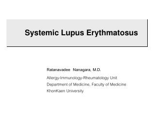 Systemic Lupus Erythmatosus