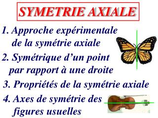 SYMETRIE AXIALE