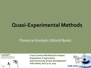 Quasi-Experimental Methods