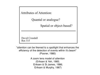 Attributes of Attention: