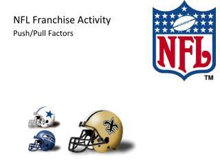 NFL Franchise Activity Push/Pull Factors