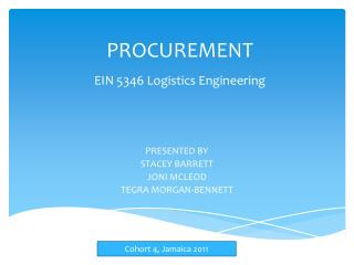 PROCUREMENT EIN 5346 Logistics Engineering
