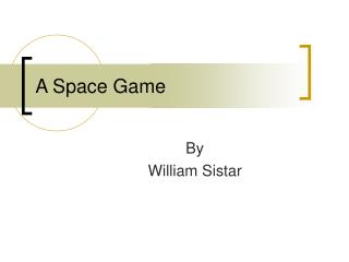A Space Game