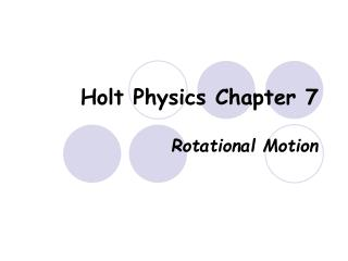 Holt Physics Chapter 7