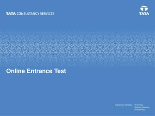 Online Entrance Test